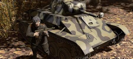 T-70 легкий танк - дерево