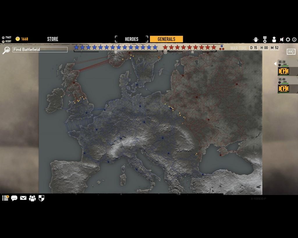Война в режиме стратегии в игре Герои и генералы