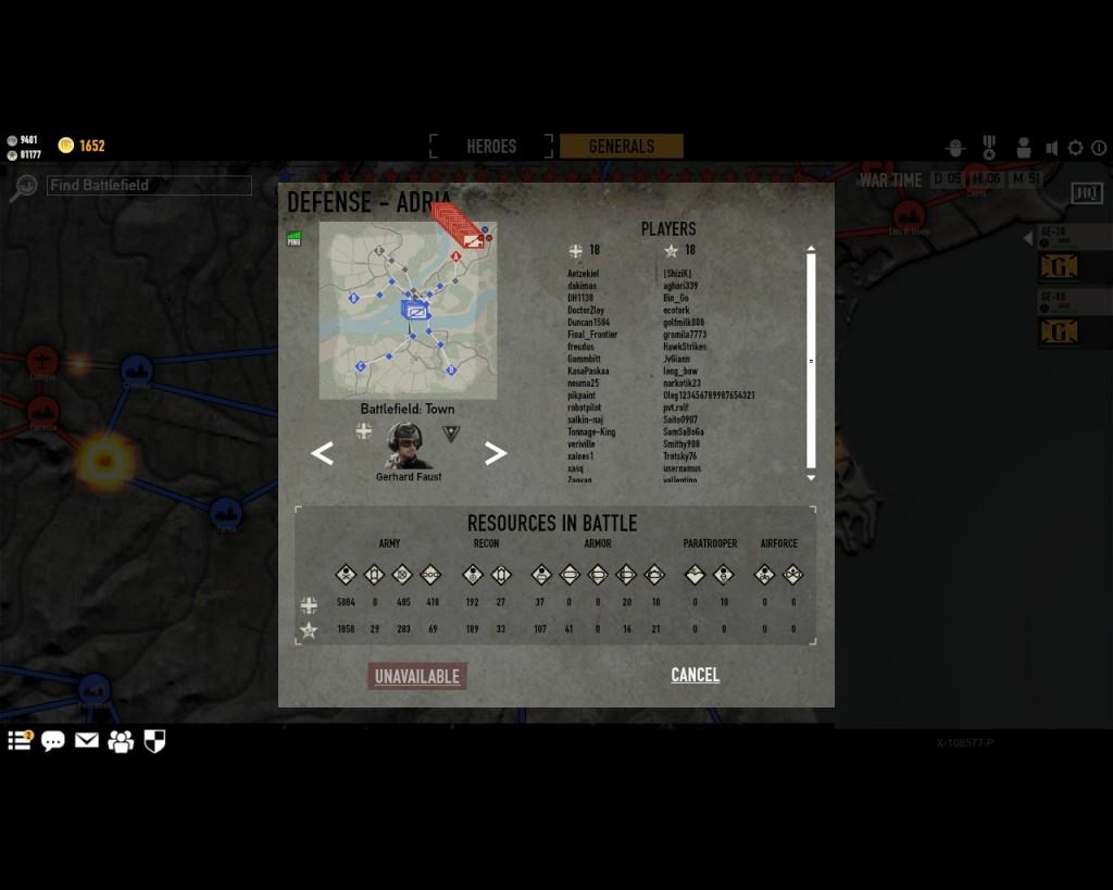 стратегическая карта войны в игре Герои Генералы - 10