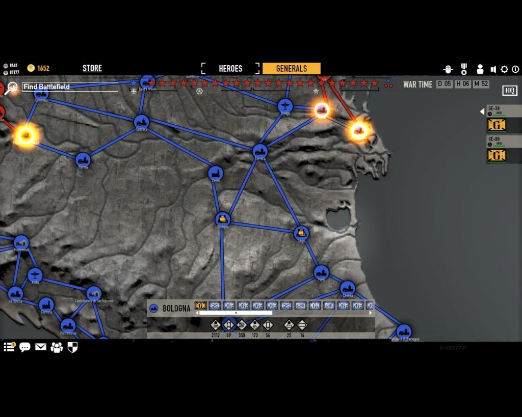 стратегическая карта войны в игре Герои Генералы - 13