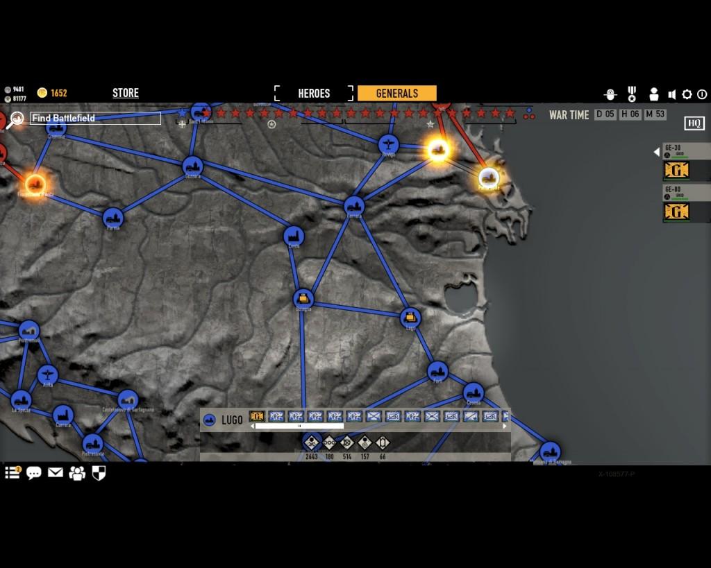 стратегическая карта войны в игре Герои Генералы - 14
