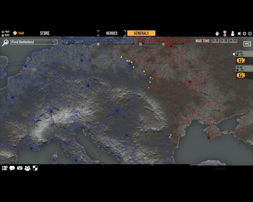 стратегическая карта войны в игре Герои Генералы - 17