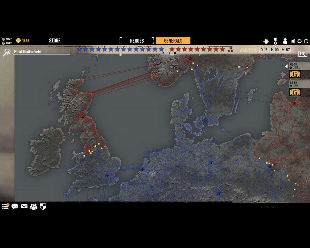 стратегическая карта войны в игре Герои Генералы - 18