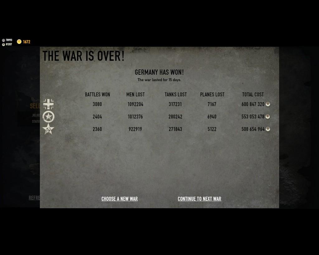 стратегическая карта войны в игре Герои Генералы - 1