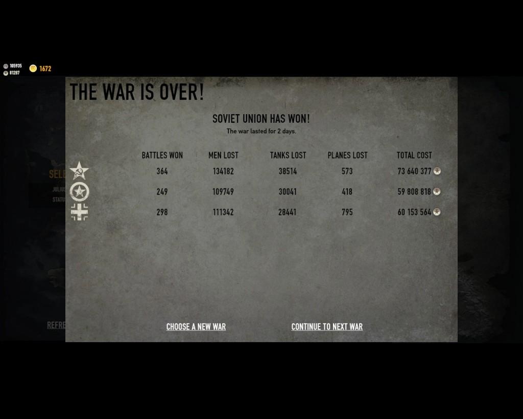 стратегическая карта войны в игре Герои Генералы - 2