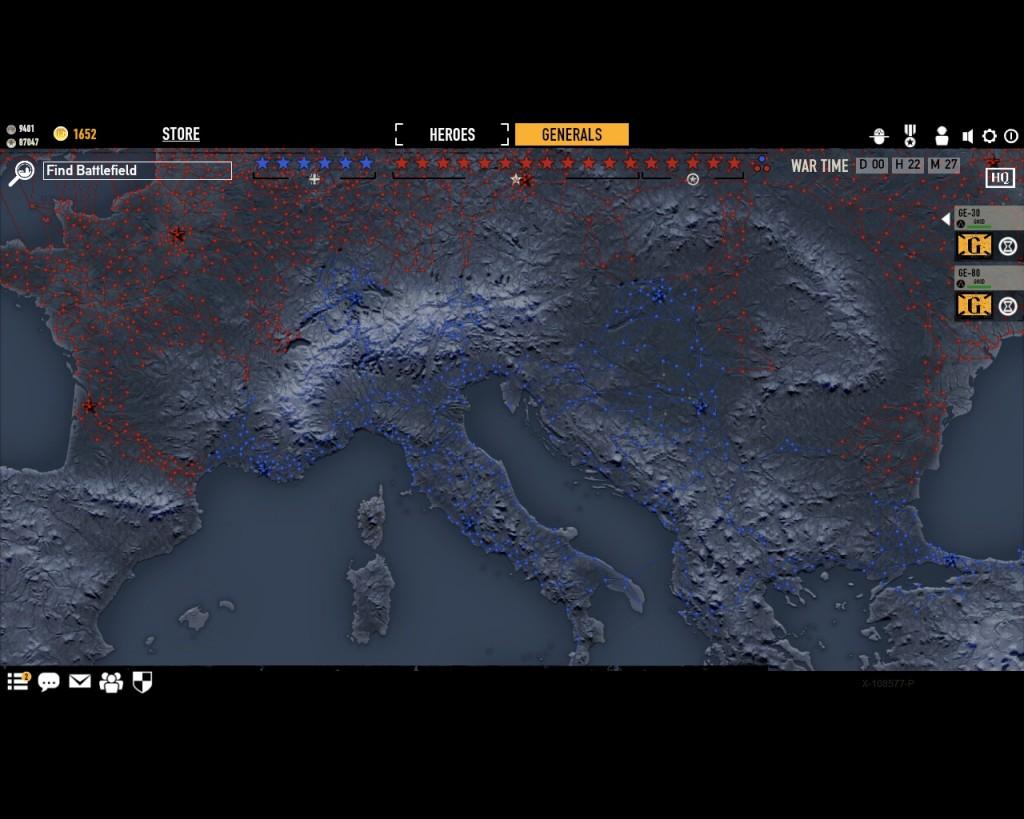 стратегическая карта войны в игре Герои Генералы - 4