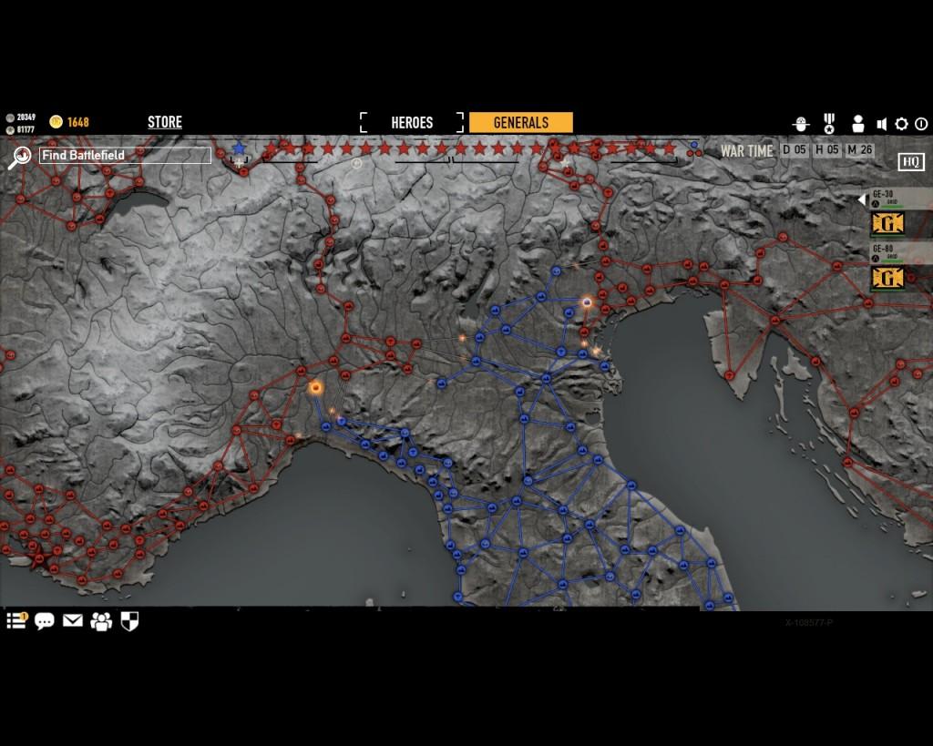 стратегическая карта войны в игре Герои Генералы - 5