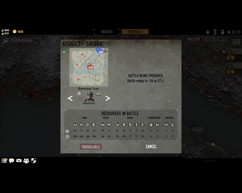 стратегическая карта войны в игре Герои Генералы - 6