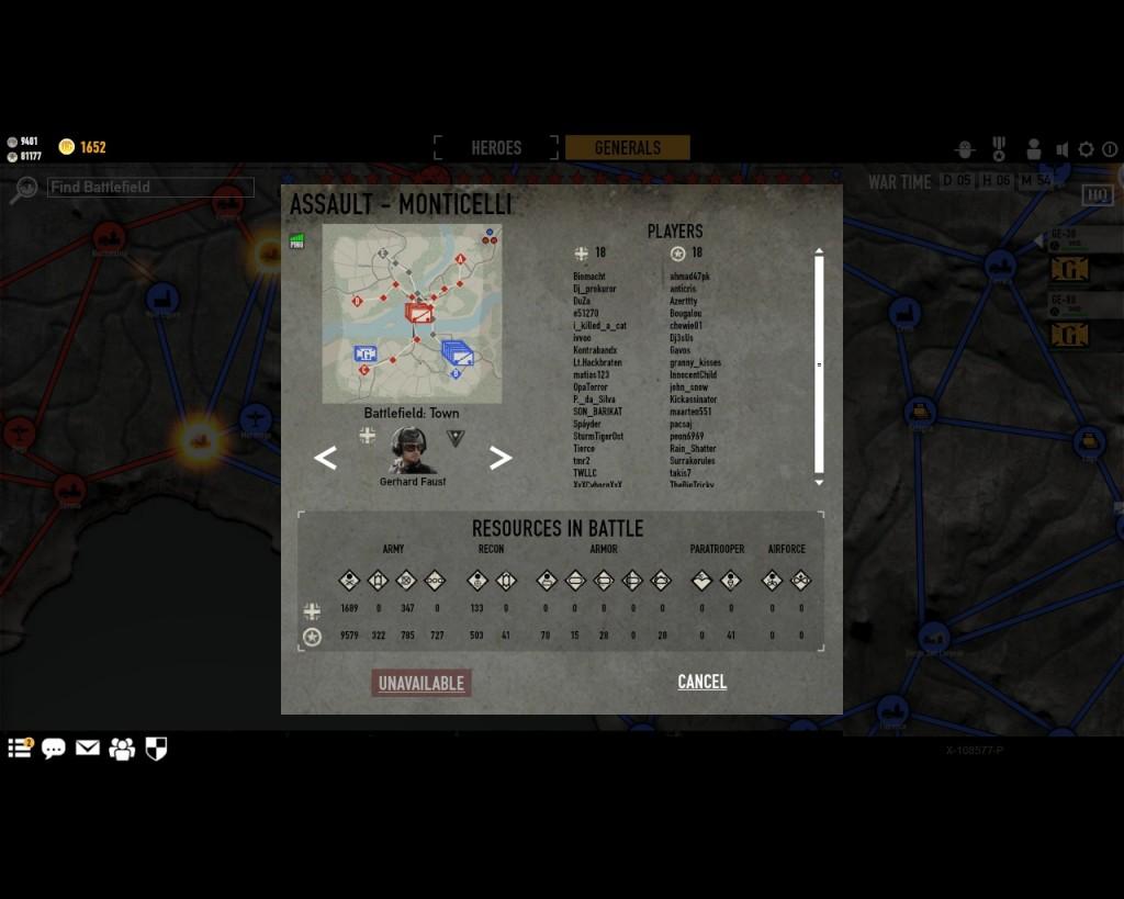 стратегическая карта войны в игре Герои Генералы - 7
