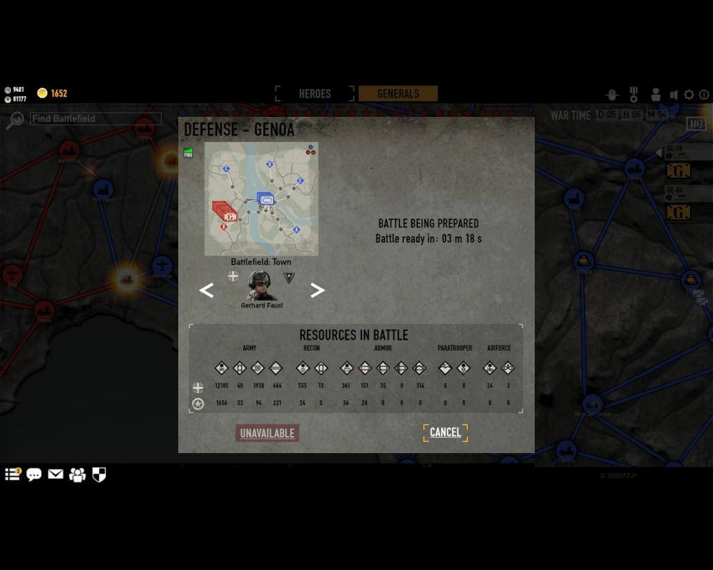 стратегическая карта войны в игре Герои Генералы - 8